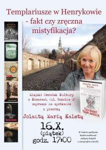 Spotkanie autorskie z Jolantą Marią Kaletą- Kowary