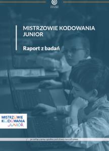 mistrzowie kodowania junior raport z badań