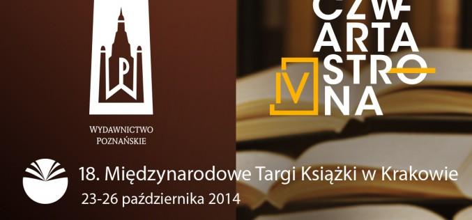 Wydawnictwo Poznańskie i wydawnictwo Czwarta Strona zapraszają na swoje stoisko B37 podczas Targów Książki w Krakowie