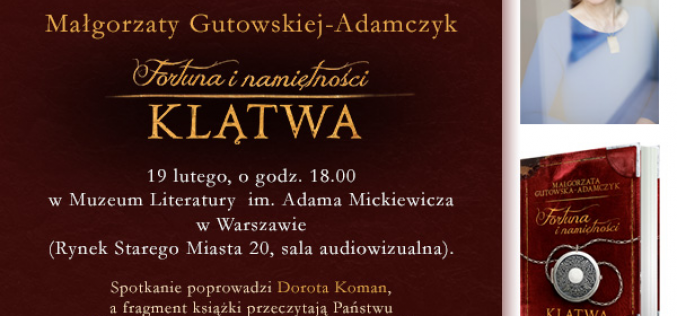 Zaproszenie na spotkanie autorskie z Małgorzatą Gutowską-Adamczyk