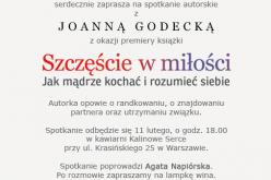 Spotkanie autorskie z Joanną Godecką