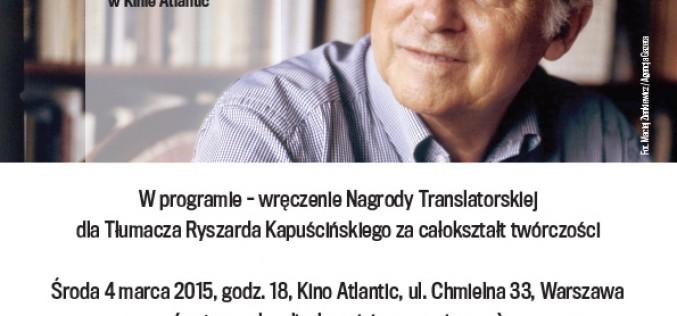 Nagroda Translatorska dla Tłumaczy Ryszarda Kapuścińskiego.