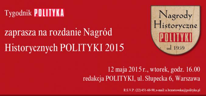 Nagrody Historyczne Polityki 2015