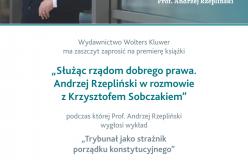 """Zaproszenie """"Trybunał jako strażnik porządku konstytucyjnego """" prof A. Rzepliński"""