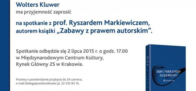 Spotkanie z prof. Ryszardem Markiewiczem