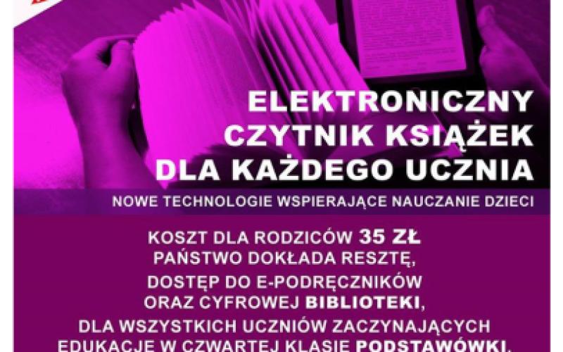 """Czytniki trafiają do polityki? Jedna z partii obiecuje """"czytnik książek dla każdego ucznia"""" za 35 złotych"""