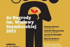 Zaproszenie na spotkanie z poetami nominowanymi do tegorocznej Nagrody im. Wisławy Szymborskiej