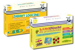 Zabawy logiczne dla ucznia i Łamigłówki dla przedszkolaka od Kapitana Nauki