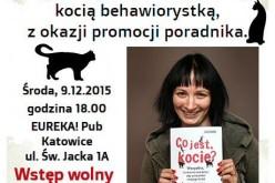"""Zapraszamy na spotkanie  z Małgorzatą Biegańską-Hendryk, autorką książki  """"Co jest, kocie?"""""""