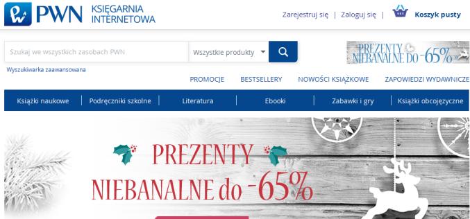 Księgarnia Internetowa PWN w nowej odsłonie