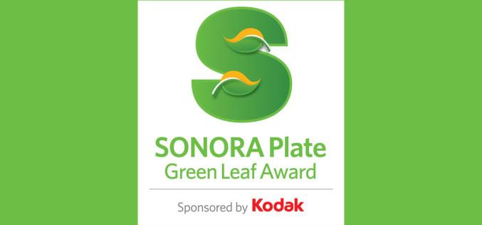 Nagroda Kodak Sonora Plate Green Leaf Award za rok 2015