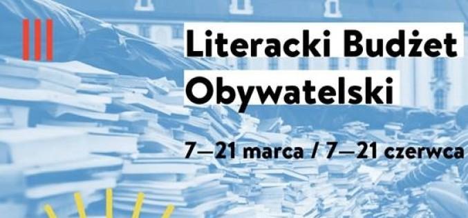 Pierwszy nabór do programu Literacki Budżet Obywatelski od 7 marca
