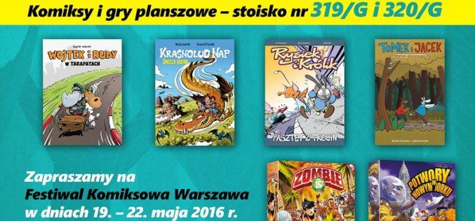 Klub Świata Komiksu Wydawnictwa Egmont  na Warszawskich Targach Książki  w dniach 19-22.05.2016!