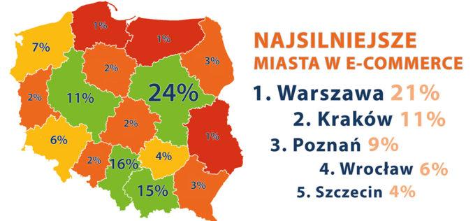 Bitwa miast: Oto najsilniejsze miasta i województwa w polskim e-commerce