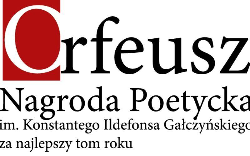 W sobotę poznamy laureata Nagrody Poetyckiej im. Konstantego Ildefonsa Gałczyńskiego Orfeusz