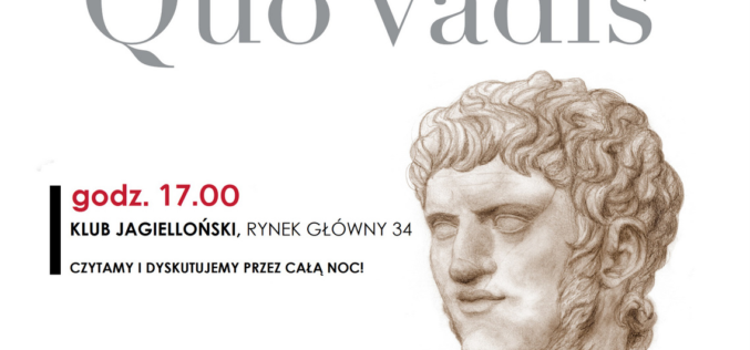 """Narodowe Czytanie """"Quo vadis""""  w Klubie Jagiellońskim"""