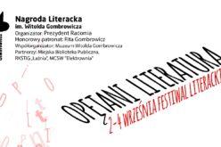 """Festiwal """"Opętani Literaturą"""" i Nagroda im. Witolda Gombrowicza"""