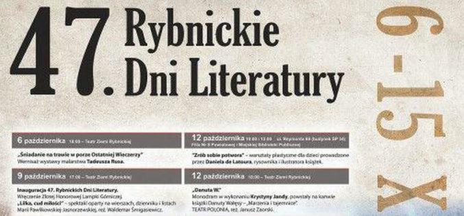 47. Rybnickie Dni Literatury