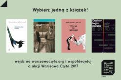 Jaka książka będzie bohaterką akcji Warszawa Czyta 2017?