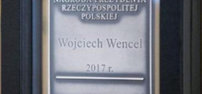 """Wojciech Wencel laureatem Nagrody Prezydenta RP """"Zasłużony dla Polszczyzny"""""""