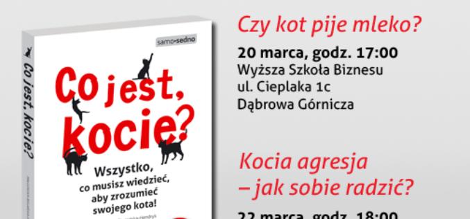"""Najbliższe spotkania z Małgorzatą Biegańską-Hendryk, autorką książki """"Co jest, kocie?"""""""