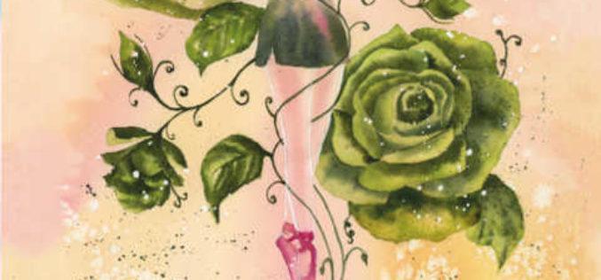 Zakwitły zielone róże