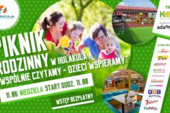 """Rodzinny Piknik w Hulakula """"Wspólnie czytamy – dzieci wspieramy"""""""