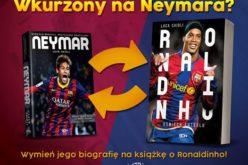 Wydawnictwo SQN pozwala wymienić biografię Neymara na książkę o Ronaldinho