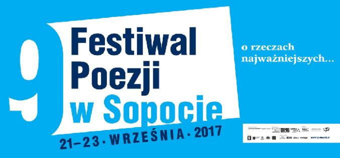 Festiwal Poezji w Sopocie 21-23 września 2017 r.