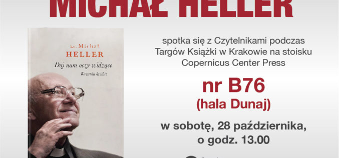 Ks. Prof. Michał Heller na Krakowskich Targach Książki