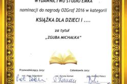 Wyróżnienie specjalne dla Wydawnictwa Studio Emka w konkursie OZGRAf