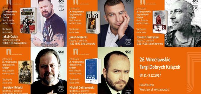 Wydawnictwo SQN zaprasza na Wrocławskie Targi Dobrych Książek do Hali Stulecia, które odbędą się w dniach 30.11-3.12