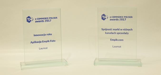 Grupa Empik z dwoma nagrodami E-commerce Polska Awards 2017!