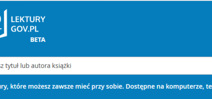 Ruszyła platforma  lektury.gov.pl.