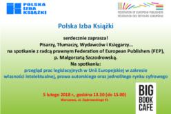 Zaproszenie na wykład radcy prawnego z Brukseli: UE a prawo autorskie …