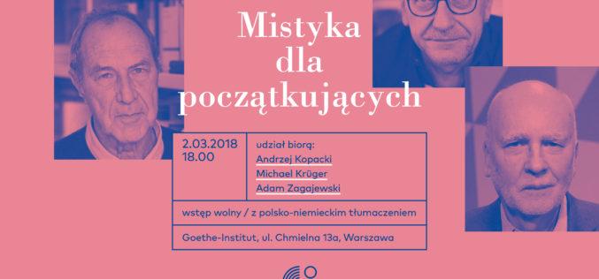 Wieczór poetycki Adam Zagajewski, Michael Krüger, Andrzej Kopacki