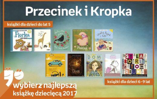Najlepsze książki dziecięce Przecinek i Kropka 2017