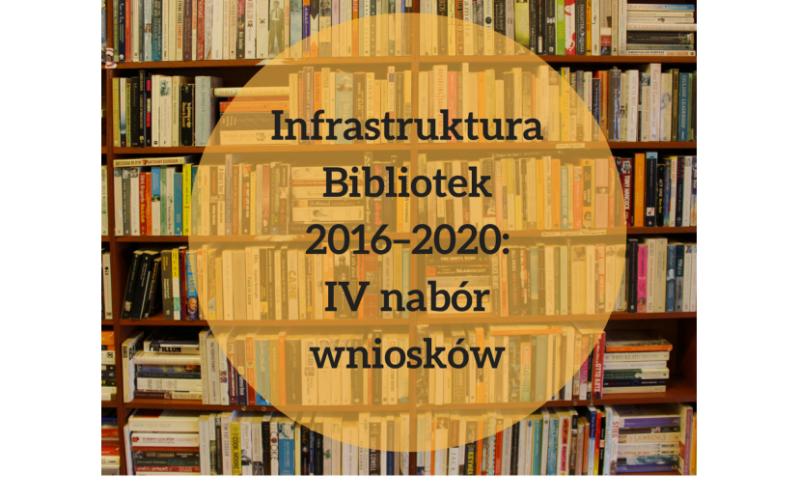 Infrastruktura Bibliotek 2016–2020: IV nabór wniosków