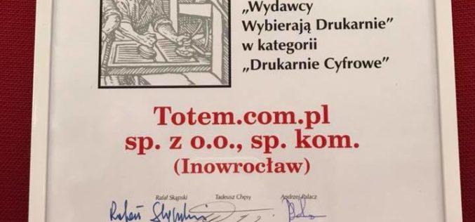 Totem.com.pl po raz kolejny  najlepszą dziełową drukarnią cyfrową w Polsce!