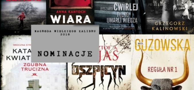 Nominacje do 15 edycji Nagrody Wielkiego Kalibru