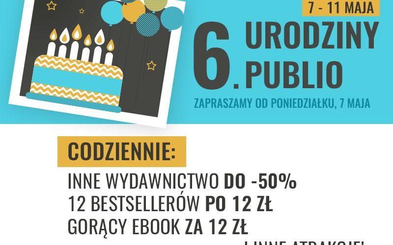 Wielkie rabaty i e-bookowe niespodzianki na 6 . urodziny Publio.pl