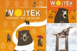 """Nagroda  Żółtej Ciżemki dla książki """"Wojtek. Żołnierz bez munduru"""" autorstwa Elizy Piotrowskiej"""