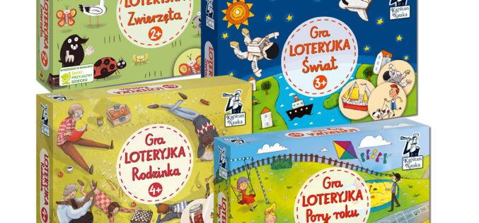 Seria Loteryjka Kapitana Nauki: rozwijające gry dla najmłodszych