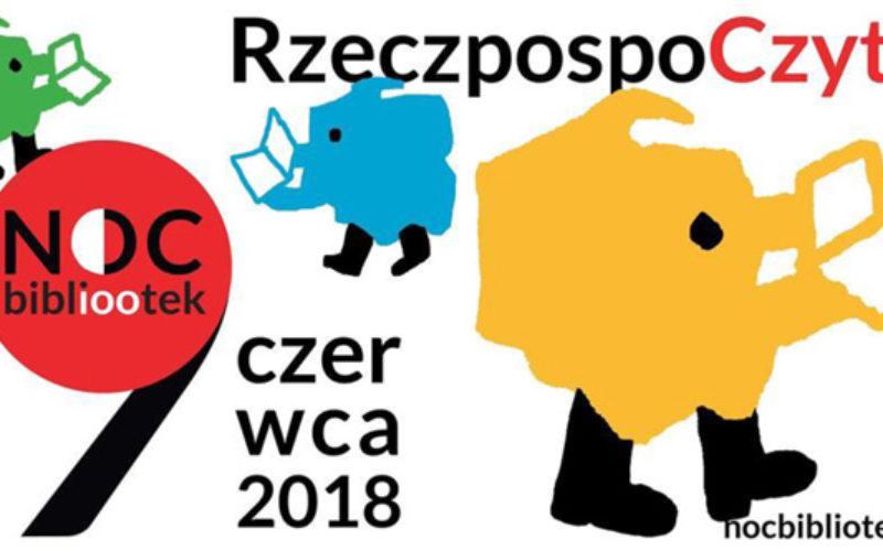 """Noc Bibliotek pod hasłem """"RzeczpospoCzyta"""" – już w sobotę 9 czerwca!"""