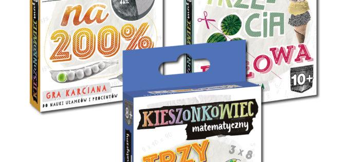 Kieszonkowce – gry karciane do nauki matematyki od wydawnictwa Edgard