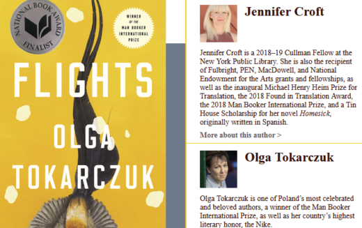Olga Tokarczuk w ścisłym finale National Book Award!