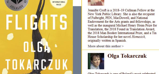 Olga Tokarczuk w ścisłym finale National Book Award!