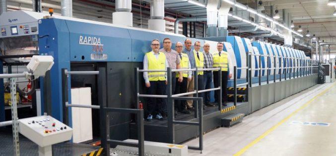 17-zespołowa maszyna Koenig & Bauer w zakładzie firmy Amcor w Łodzi