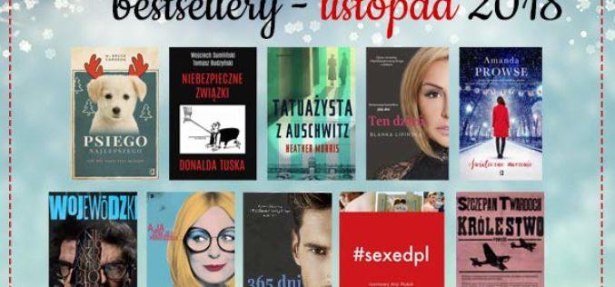 Bestsellery listopada 2018 w TaniaKsiazka.pl