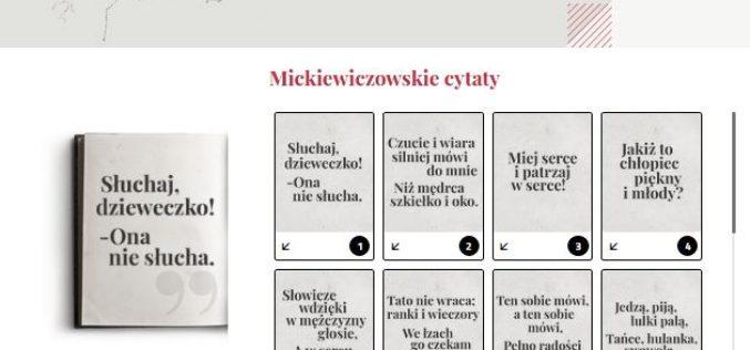 """""""CZTERDZIEŚCI I CZTERY"""" – Plebiscyt radiowej Dwójki z okazji 220. urodzin Adama Mickiewicza"""